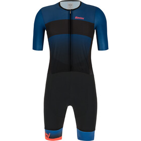Santini Ferox Combinaison de triathlon manches courtes Homme, space blue